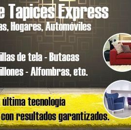 Lavado de Tapices Express, para Hoteles, Oficinas, Hogares, Automóviles, Sillas de tela, Butacas, Sillones Alfombras, etc.