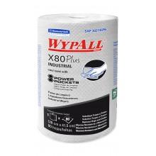 PAÑO WYPALL X-80 REGULAR ROLL PP CAJA 6 ROLLOS 80 PAÑOS